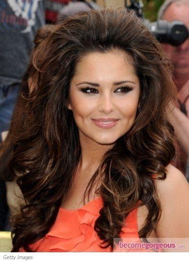Big Curly Hair Celebrity Hair Style Pretty Red Carpet Curls Bouffant Hair Teased Hair Big Curly Hair