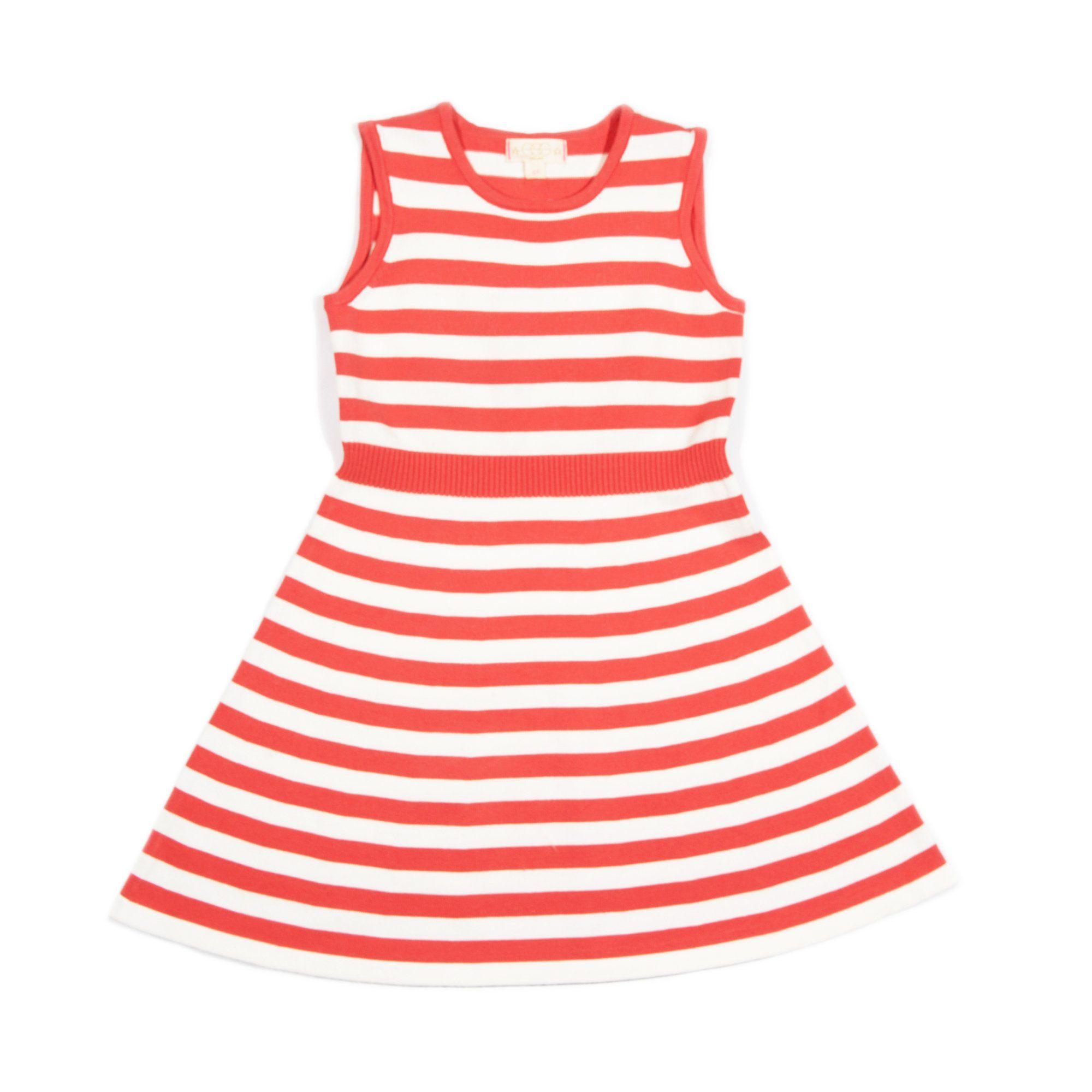 Macie Sweater Dress - Coral / 10Y