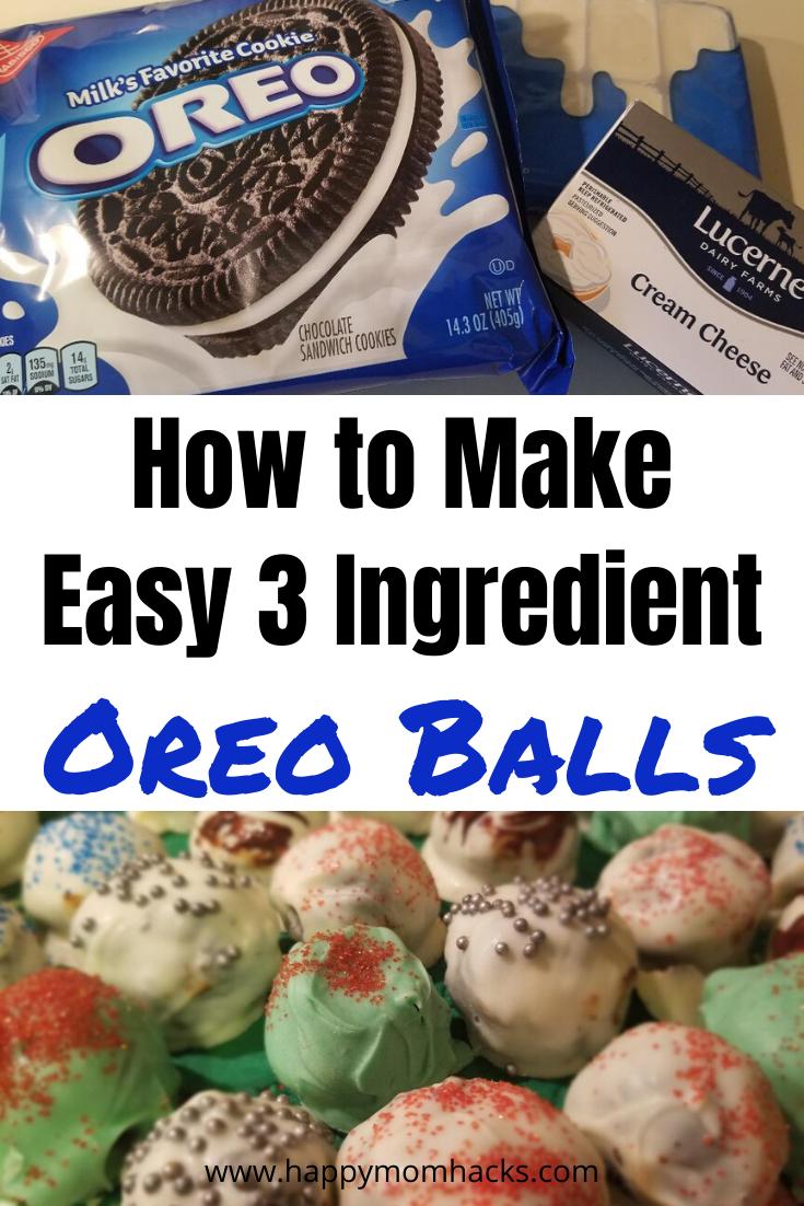 Oreo Balls Recipe Yummy No Bake Party Desserts Happy Mom Hacks Oreo Balls Balls Recipe Oreo Balls Recipe