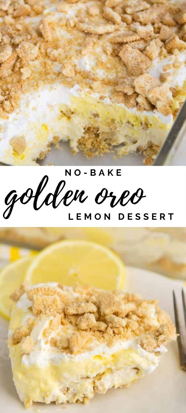 No-Bake Golden Oreo Lemon Dessert