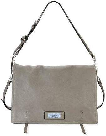 d9d90c63fc4e Prada Etiquette Large Glace Calf Leather Shoulder Bag