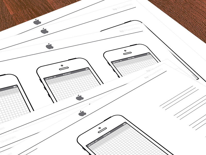 iPhone Sketch Template Graphic design freebies