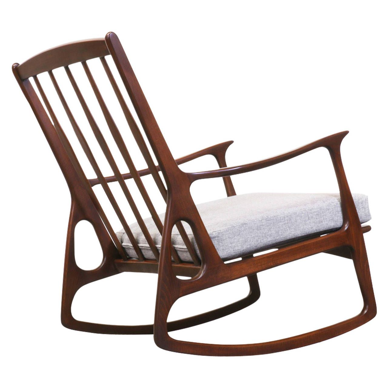 Midcentury Italian Walnut Rocking Chair | From a unique collection of antique and modern rocking chairs at ...  sc 1 st  Pinterest & Midcentury Italian Walnut Rocking Chair | chairs | Pinterest ...