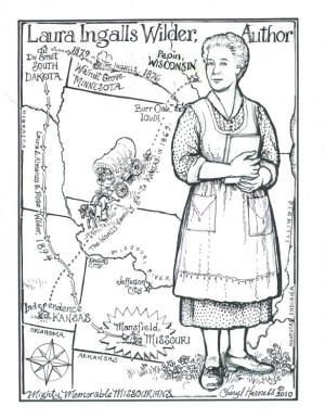 LIW coloring pages from the Cheryl Harness coloring book. | Laura ...