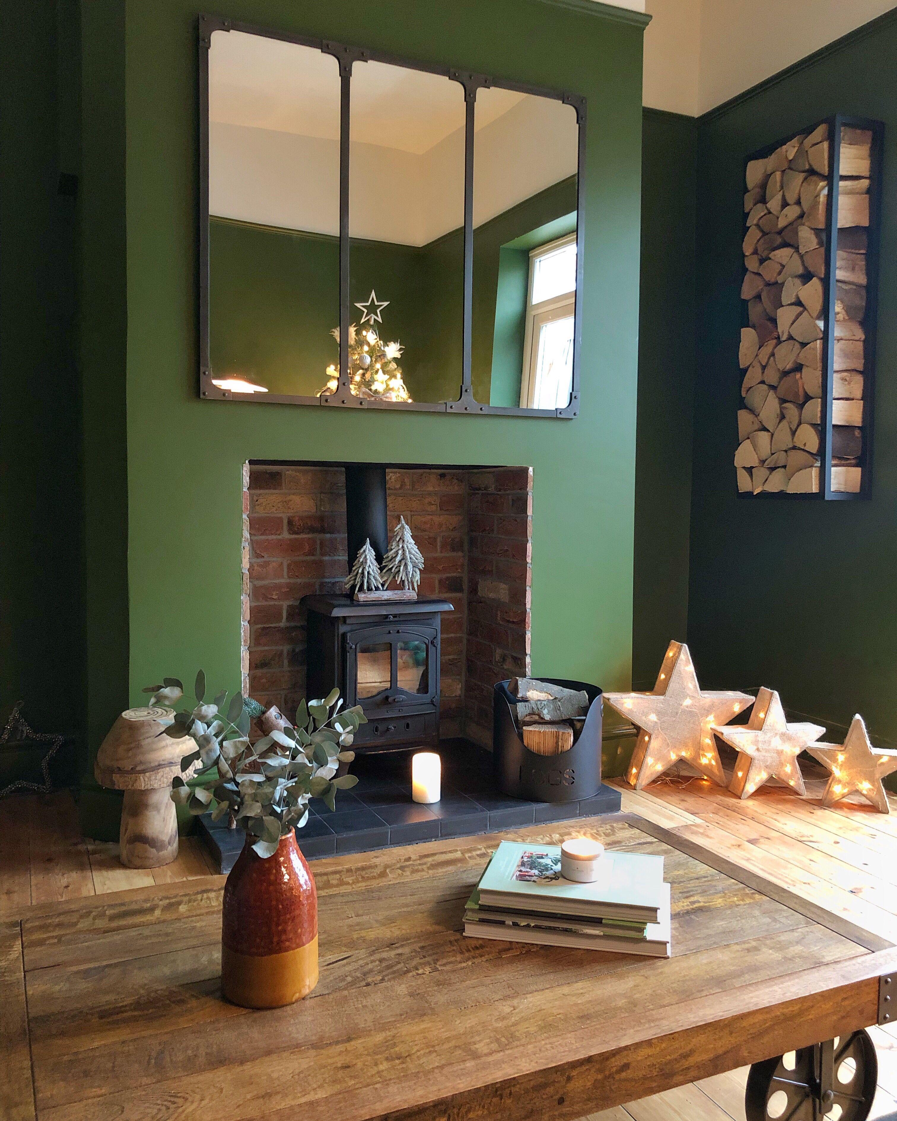 Little greene paint Jewel Beetle in industrial style snug