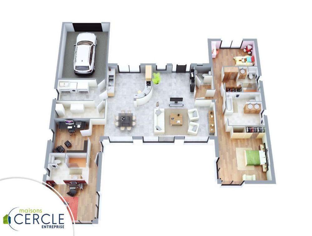 Maison - Esthétia - Maisons Cercle Entreprise - 189000 euros - 120