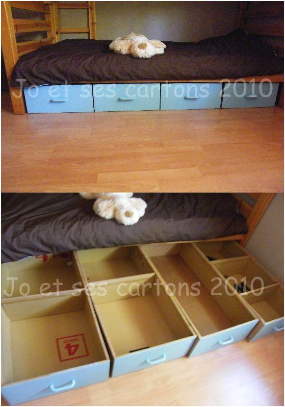 Bac Sous Lit D Enfants En Carton Http Joetsescartons Over Blog Com Meuble En Carton Rangement Sous Lit Mobilier De Salon