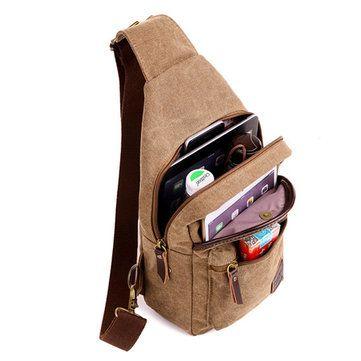 Casual bolso de la bolsa de la vendimia de lona Crossbody