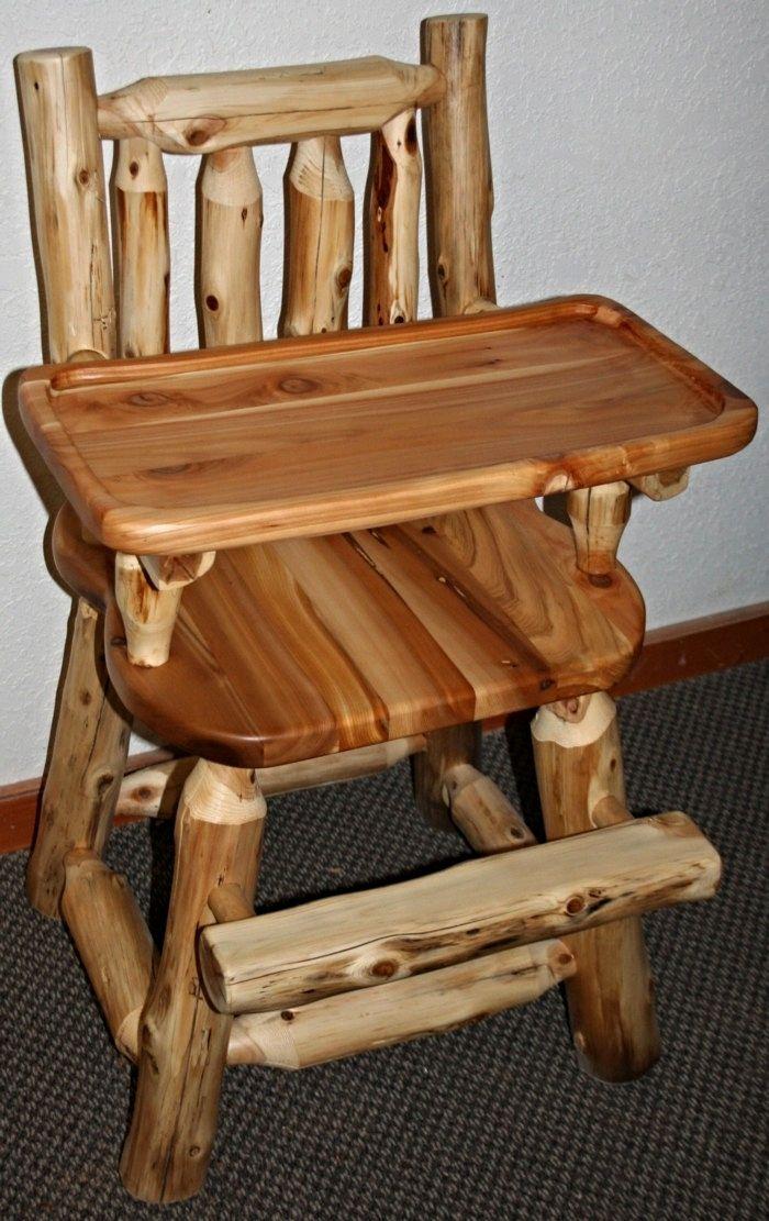Cedar Log Baby High Chair Cedar furniture, Log furniture