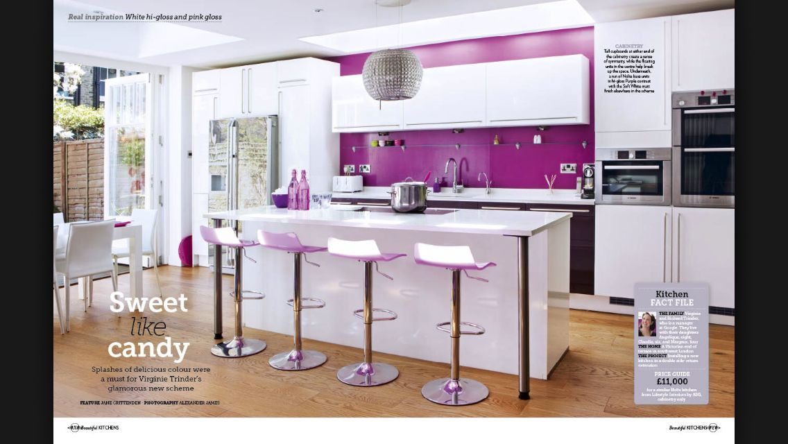 More Purple Purple Kitchen Purple Kitchen Walls White Kitchen Accessories
