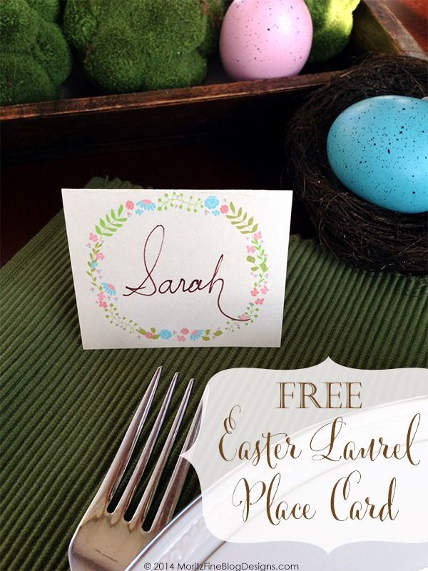 Easter Table Place Card From Moritz Fine Blog Designs Easter Printables Free Easter Place Cards Easter Brunch Table