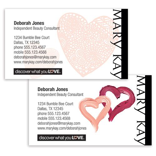 Discover What You Love Business Cards Mary Kay Wish List - Mary kay business cards templates free