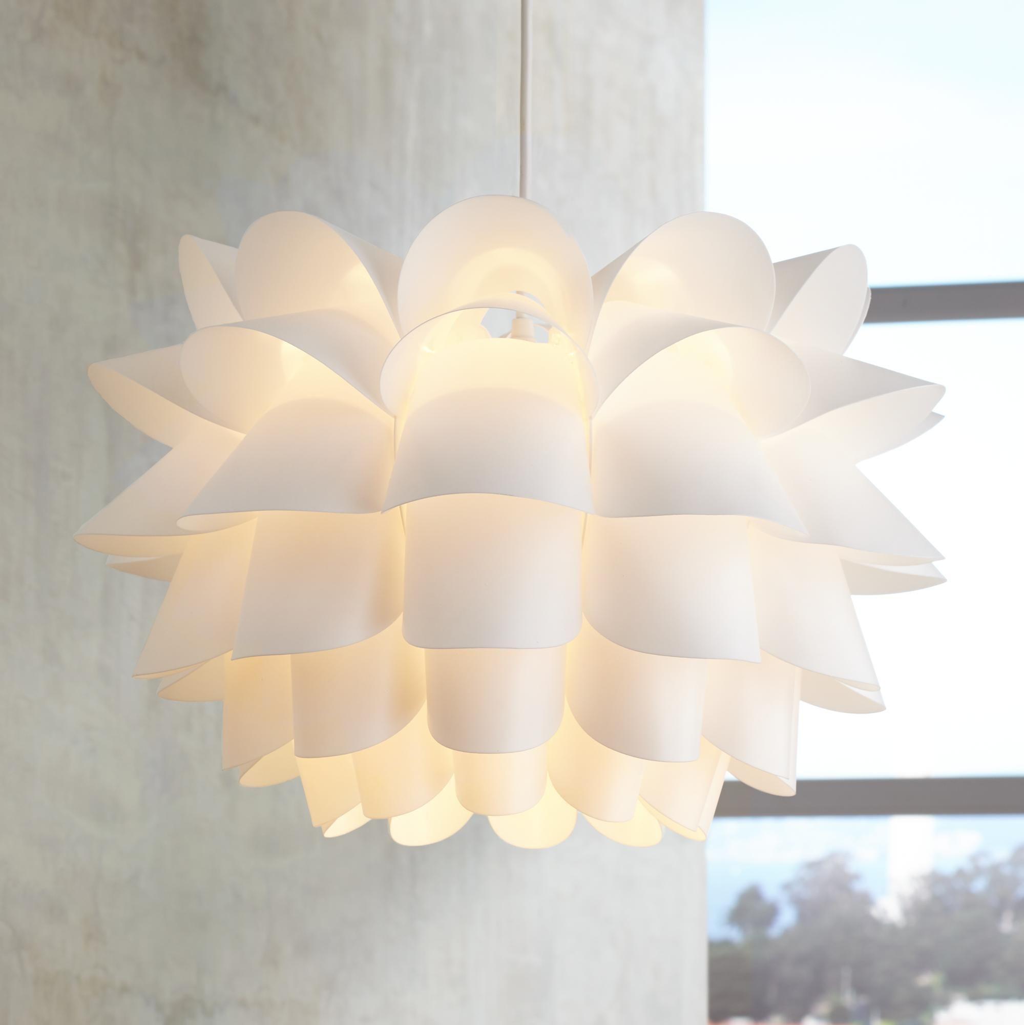 Possini Euro White Flower 19 12 Wide Pendant Chandelier Lighting
