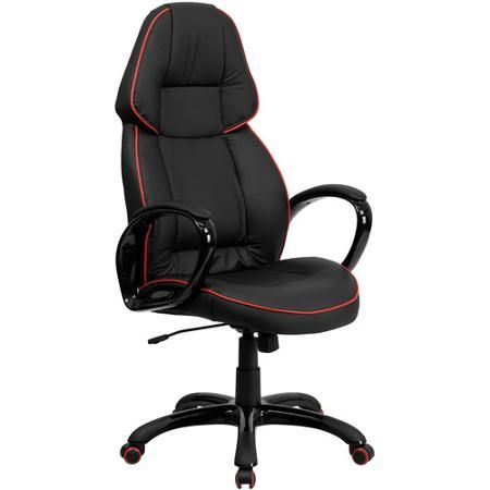 Flash Furniture High Back Vinyl Executive Office Chair, Black