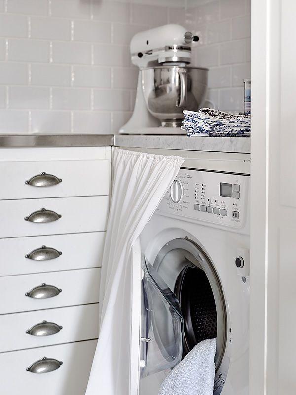 15 formas creativas de disimular la lavadora | Armario de ...