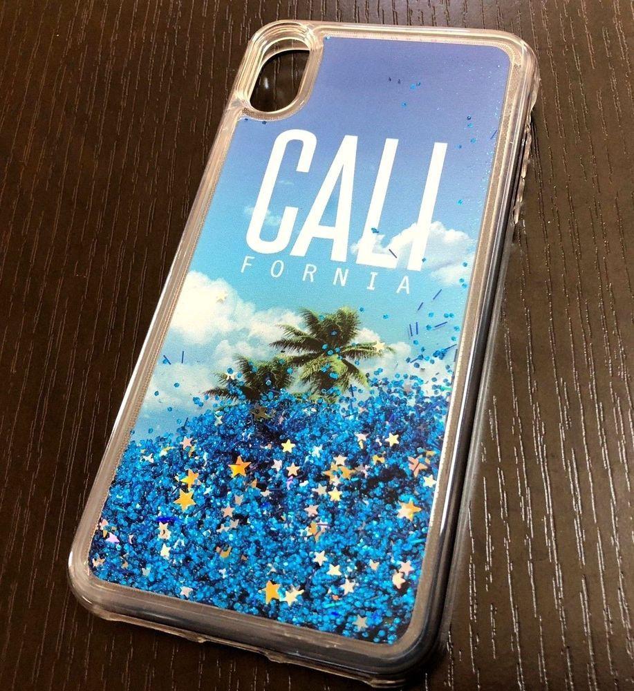 iphone xr case water glitter
