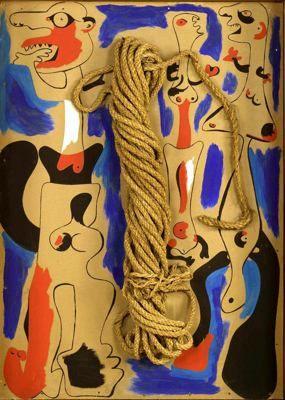 Soga y personajes I by Joan Miró