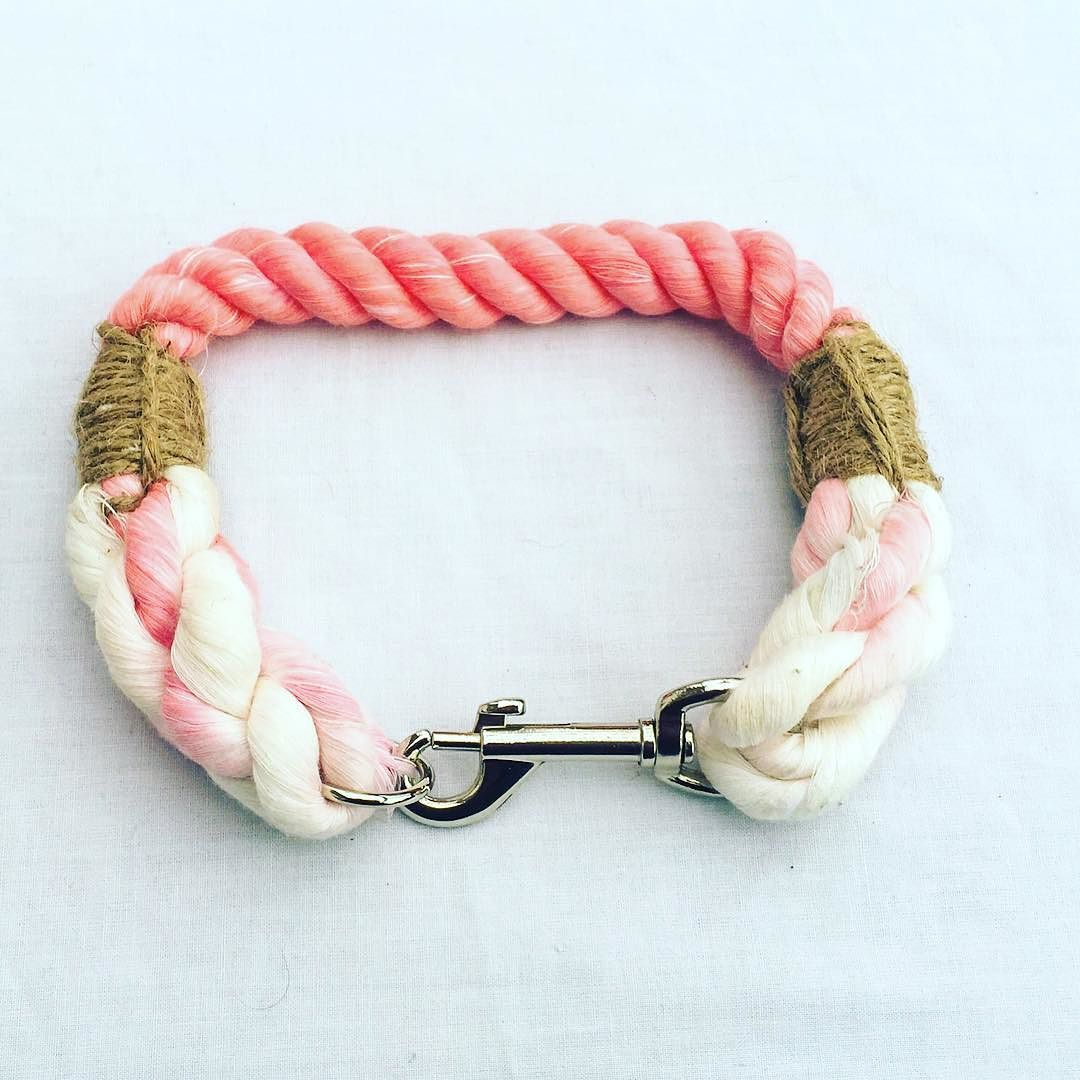 1/2 inch think rope collar in candy floss #pink #instadaily #leadsbyelsie #dog #dogs #doggy #dogleash #doglover #frenchbulldog #rottweiler #rope #ropeleash #dalmatian #picoftheday by leadsbyelsie