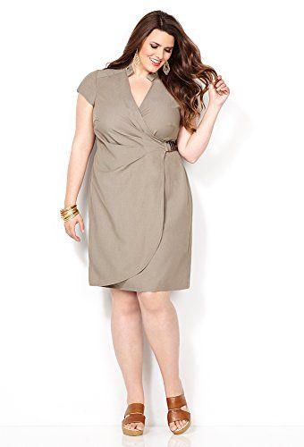 Avenue Women's Khaki Denim Wrap Dress, 18 Beige Avenue http://www.amazon.com/dp/B00M7T4YUE/ref=cm_sw_r_pi_dp_WDK2tb17ZPPCSJS2