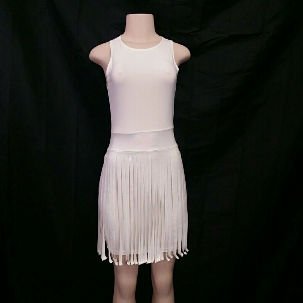 White Fringe Dress
