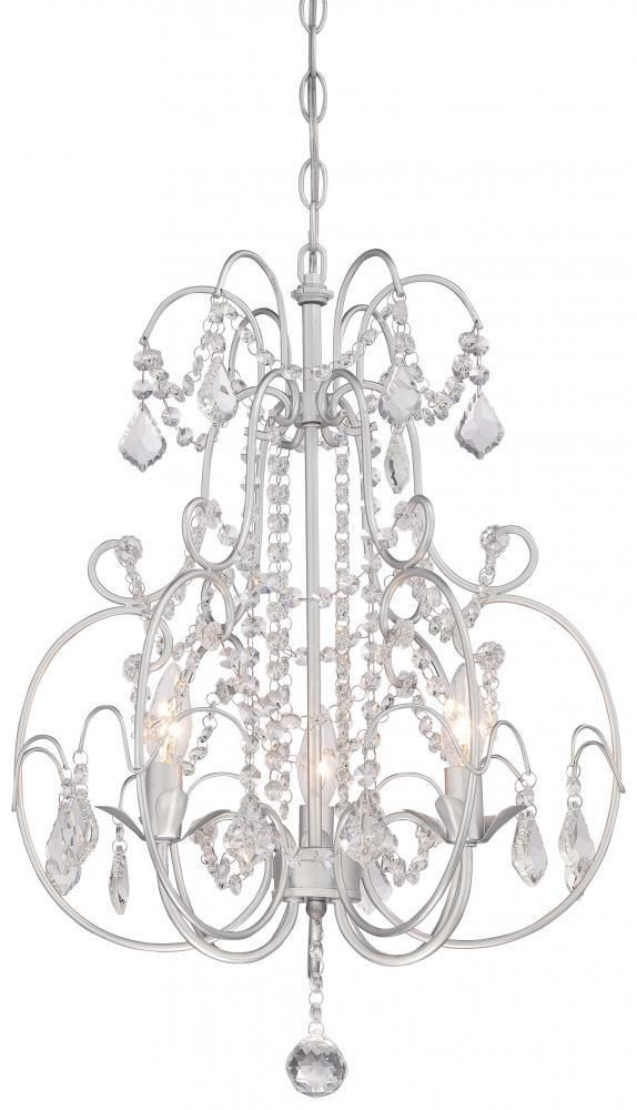 Minka Lavery 3153 599 3 Light Mini Chandelier Vintage Silver S And