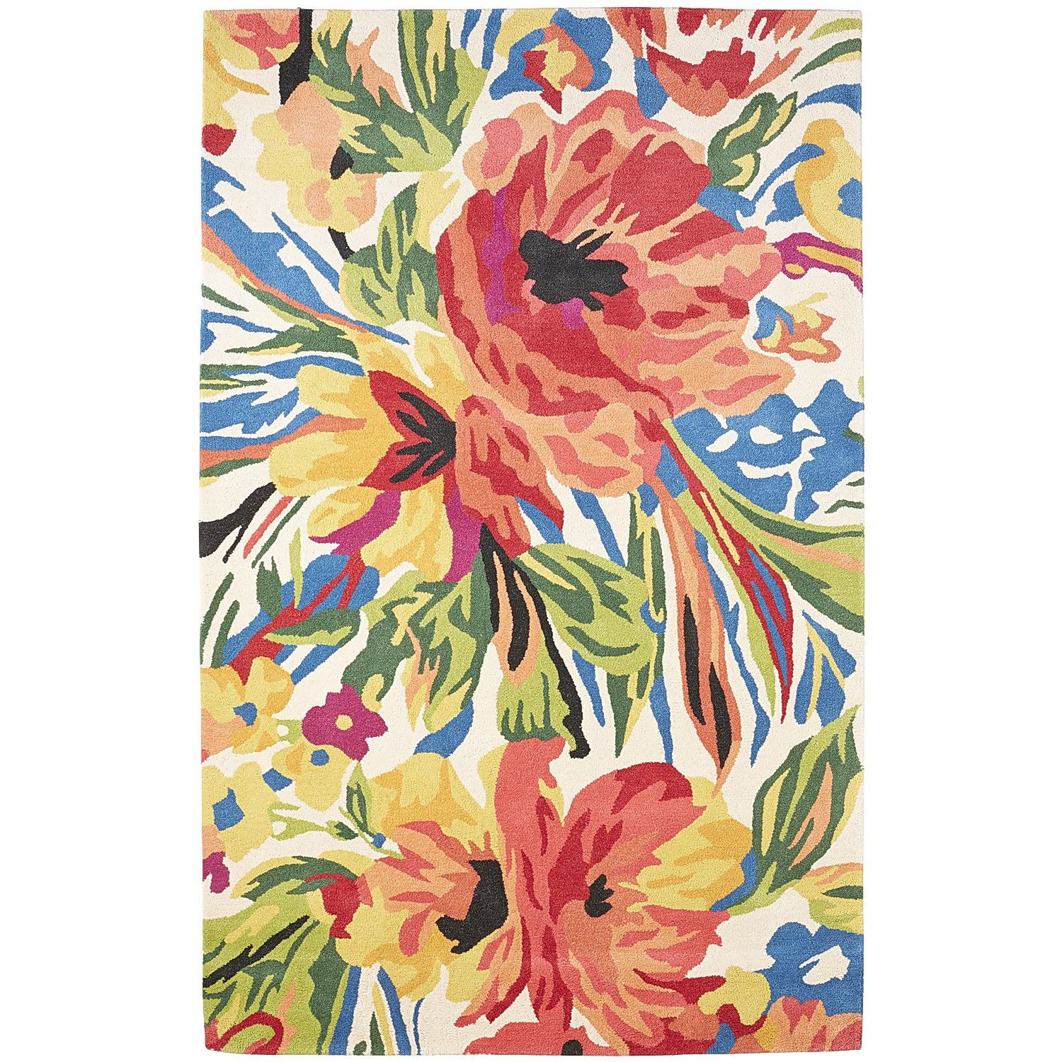 Multi Colored Talise Floral Wool Rug 8x10 Cool Rugs Floral