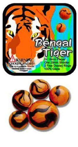 Glass Mega Marbles Bengal Tiger Game Net Set 25 Piece 2015 Amazon Top Rated Marble Games Toy