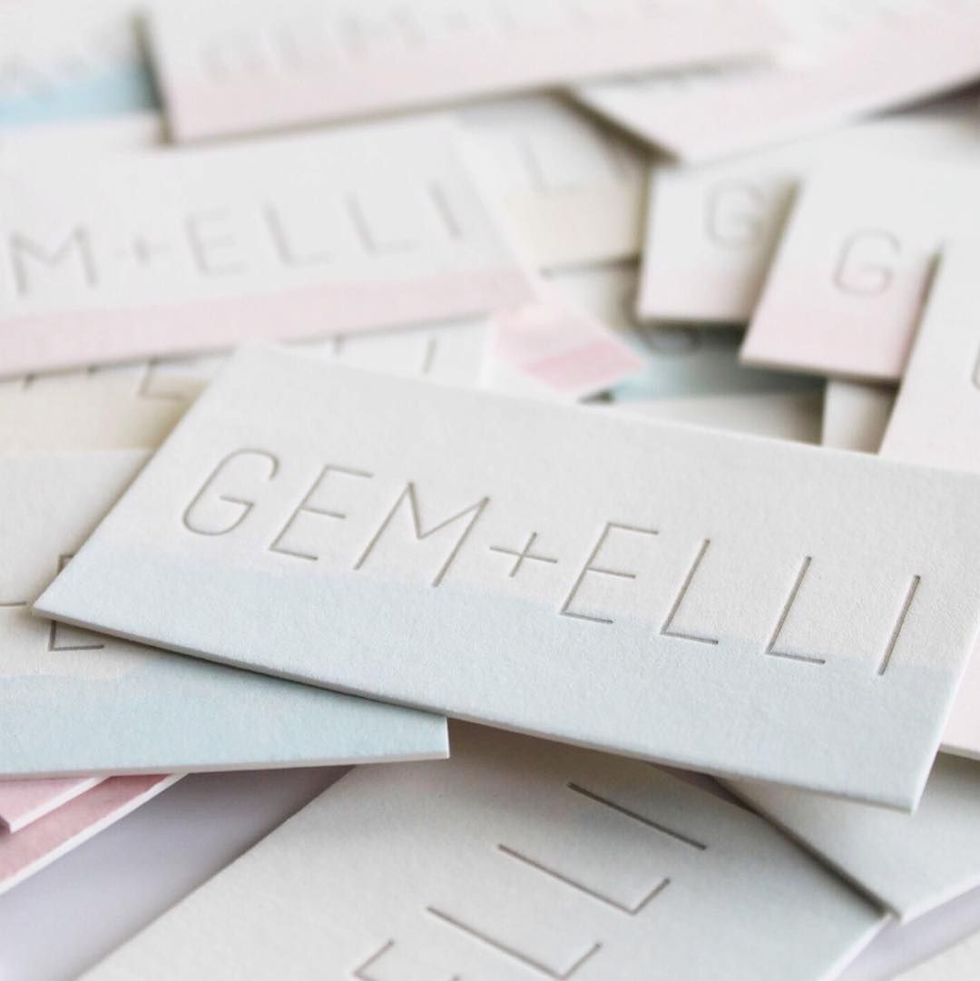Our new watercolored business cards by @swellpresspaper are so dreamy!
