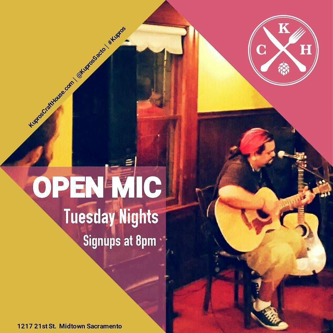 Come sing about the weather a love lost or whatever your soul feels like singing about. Tonight's host is Marty Taters! #Sacramento #OpenMic #tonight