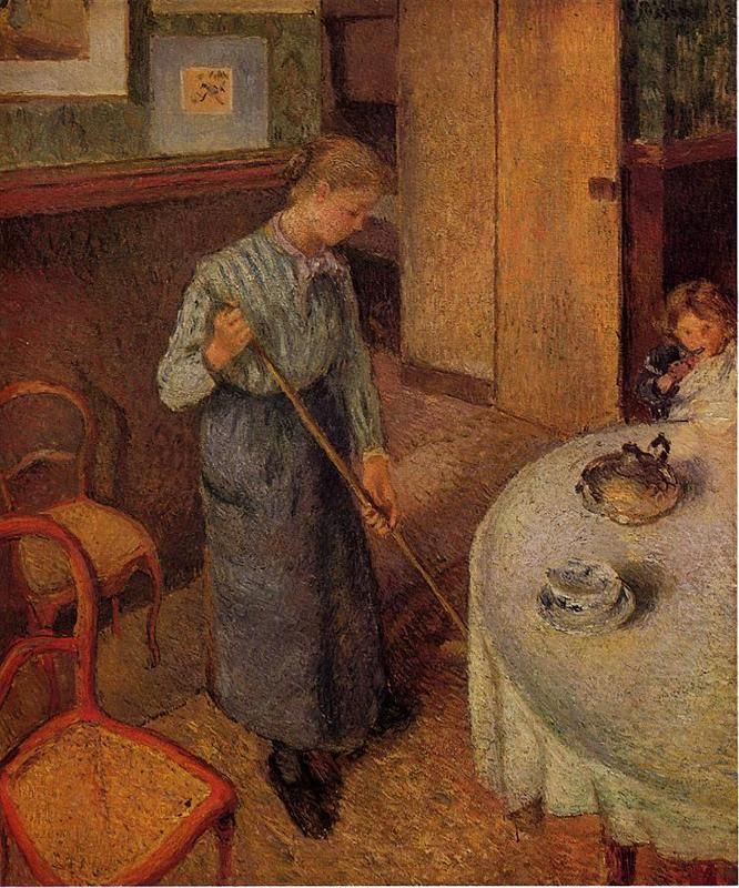 The Little Country Maid, 1882 - Camille Pissarro - WikiArt.org