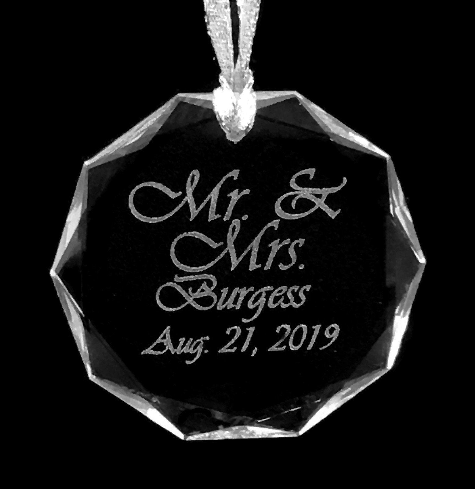 Custom Engraved Crystal Ornament, Personalized, Birthday