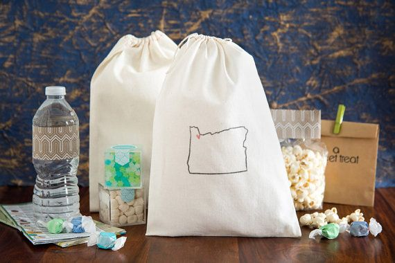 portland wedding welcome bags state out of town guest bags