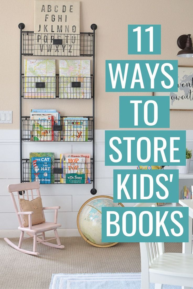 11 Clever Book Storage Ideas for Kids - Mommyhooding