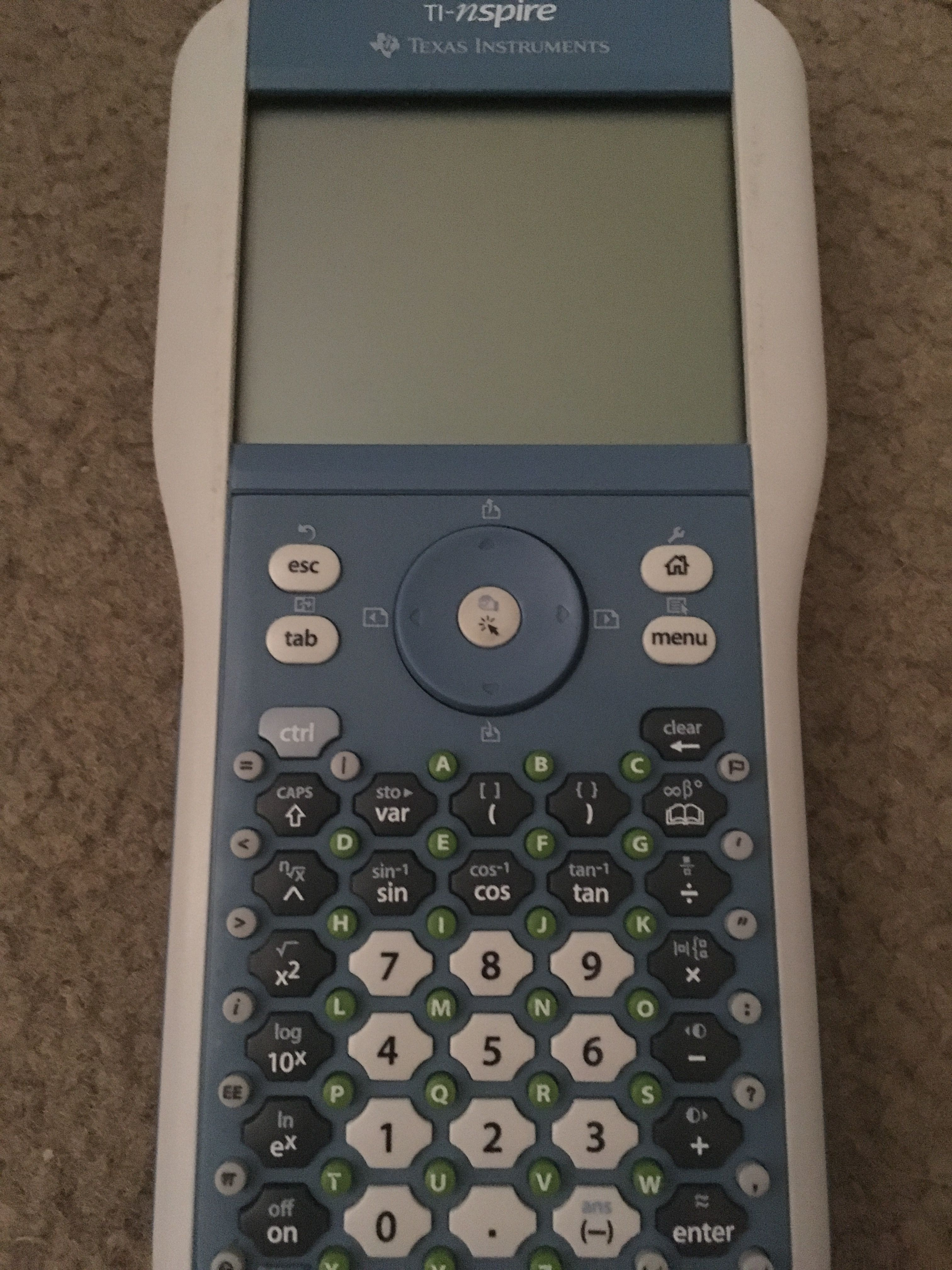 My Texas Instruments TI-Nspire with clickpad  Graphing