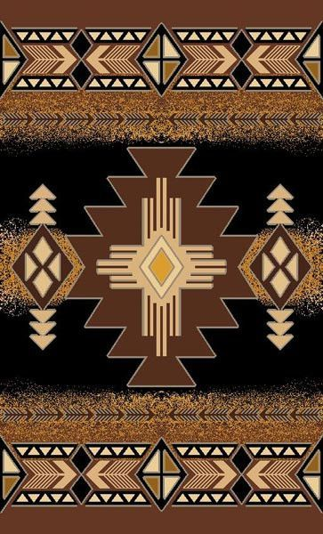 Persian Weavers Concord Southwestern Rug 5x7 Black Pw C