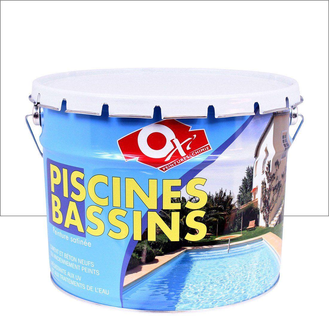 Peinture Piscine Et Bassin Exterieur Oxytol Blanc 10 L Avec Images Peinture Piscine Bassin Exterieur Bassin