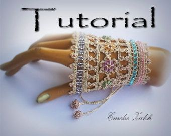 Pattern Crochet Beaded Bracelet Jewelry Crochet Tutorial Pdf File