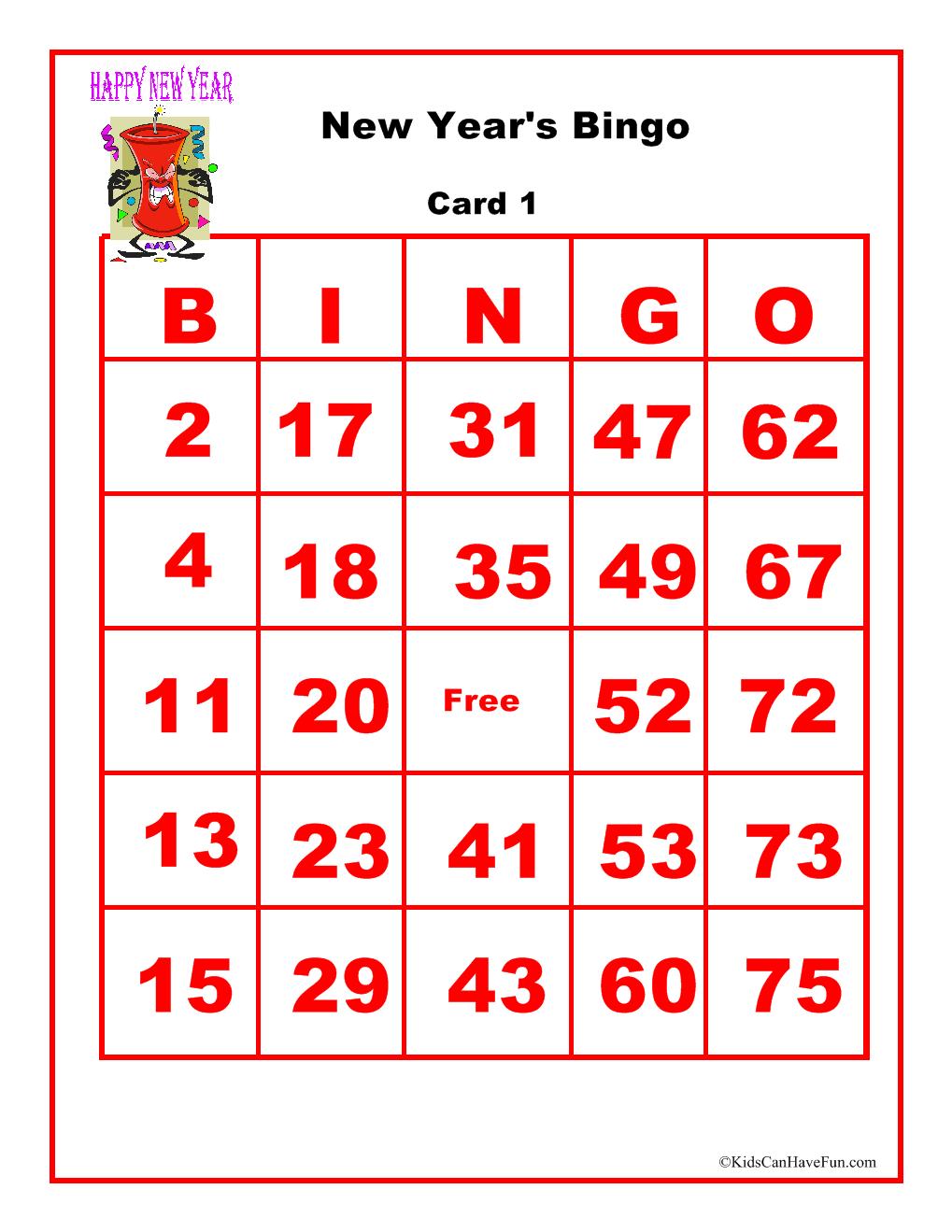 New Years Bingo Game Oyun