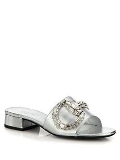 49940f99f7d Gucci - Maxime Crystal Horesbit Slide Sandals