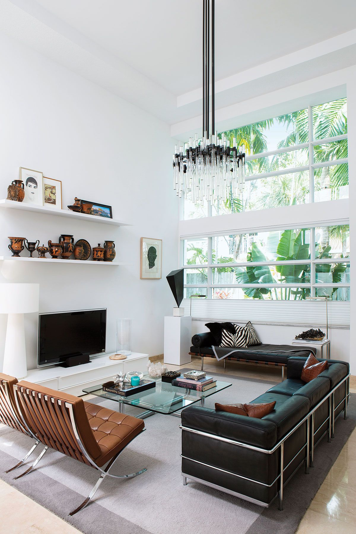 Modern and minimalist in 2019 chandelier in living room