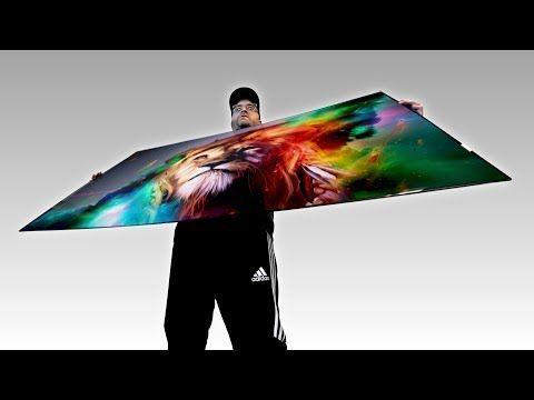 Unboxing The Mind Bending Wallpaper TV Full HD 4K Lg