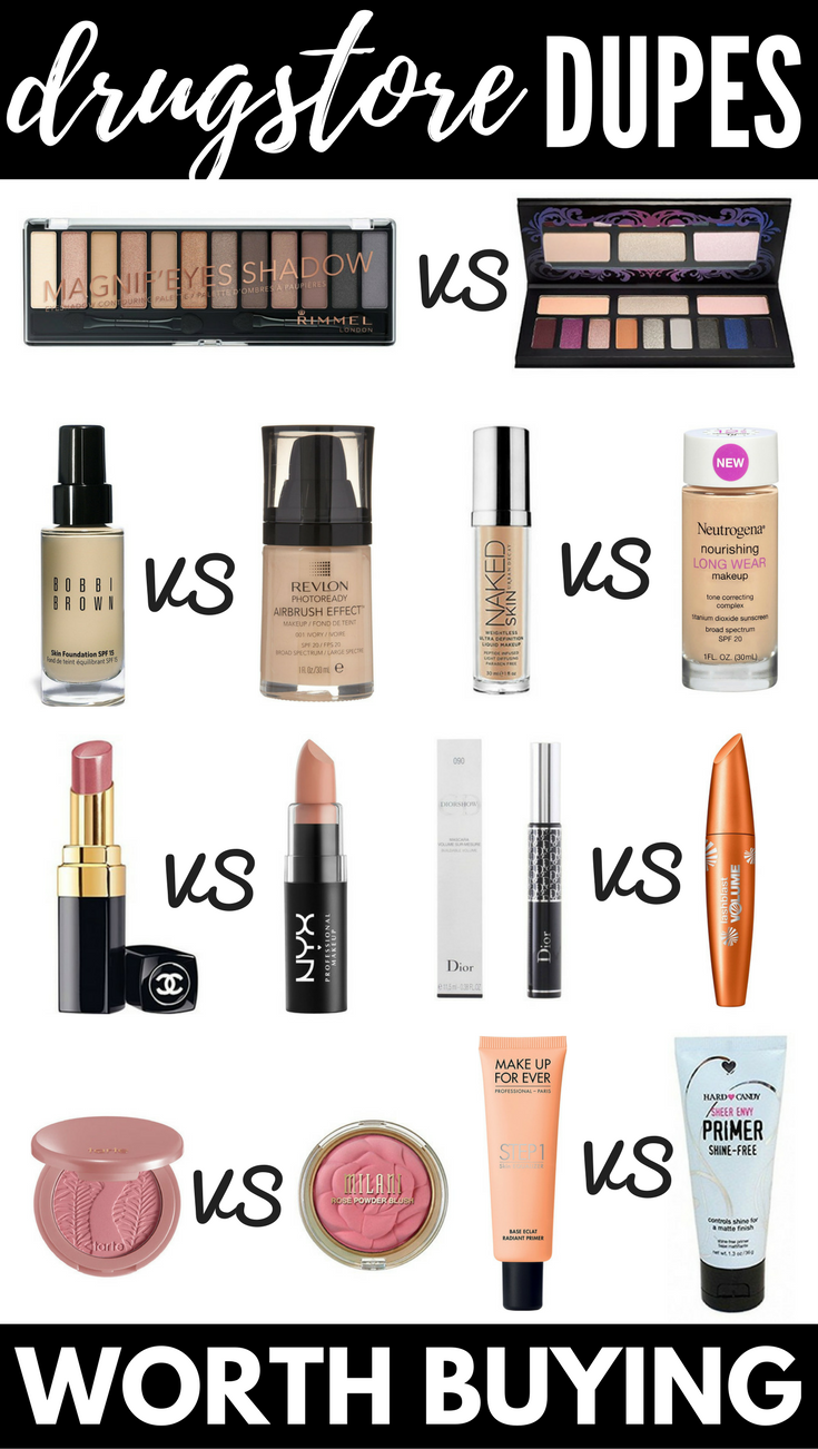 The Best Makeup Dupes 12 Drugstore Dupes for High End