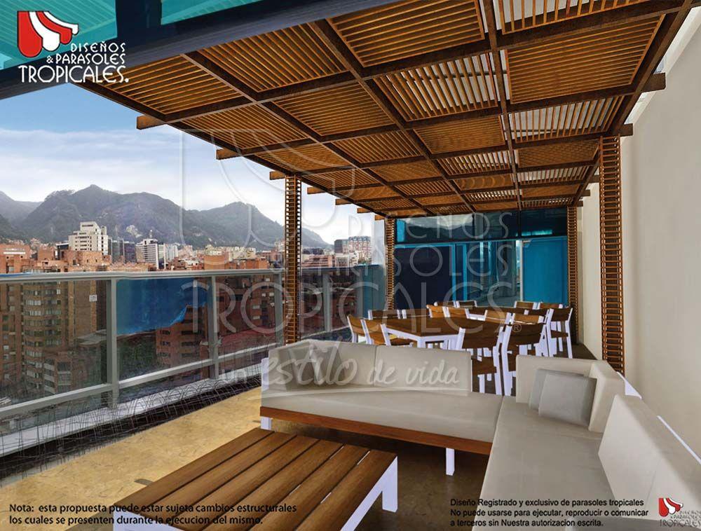 Parasoles tropicales toldos sombralinas muebles en for Muebles terraza casa