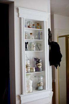 built in wall cabinets bathroom - Google Search