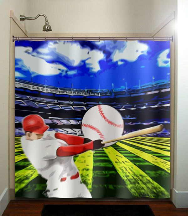 ball hitter bat player stadium baseball Duvet Cover bedding