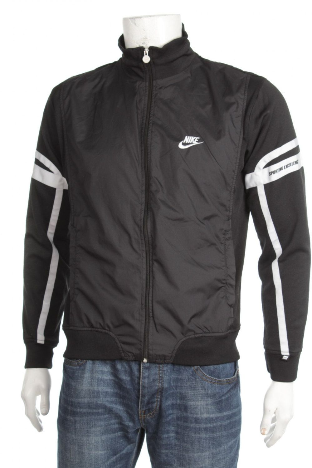 26fb2c14fd8cf Rare Vintage 90s Nike Sporting Excellence Windbreaker Tracksuit top ...