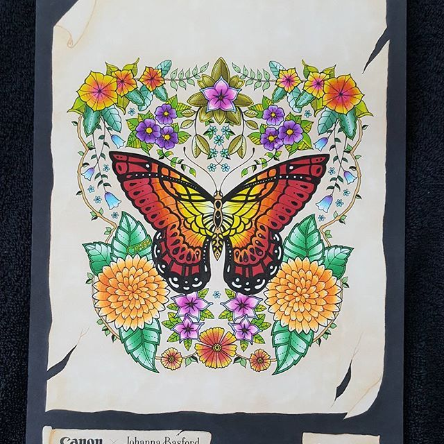 Beautiful floral butterfly page by bastelfrosch using