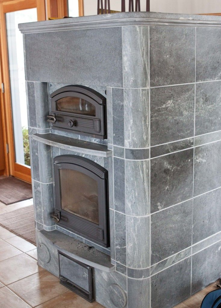 A Finnish soapstone stove, a Tulikivi. Those things are wonders ...