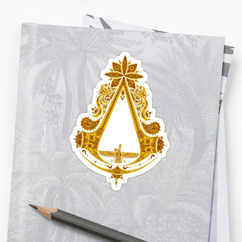 Persain Based Assassins creed logo on multiple items