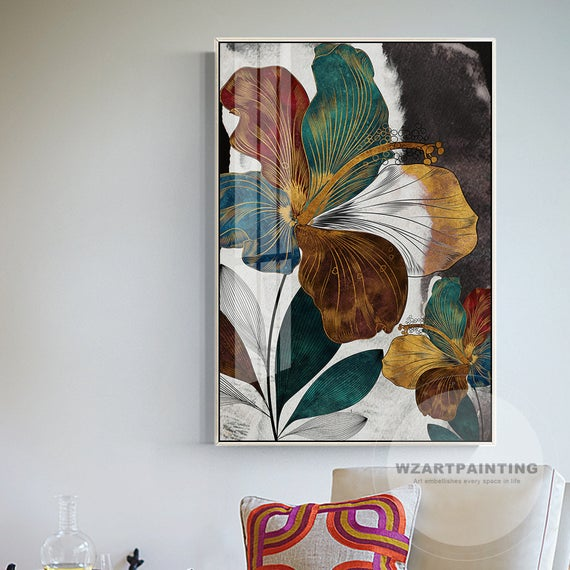 Green Painting, Floral canvas wall art Abstract Canvas wall art ABSTRACT PAINTING Print